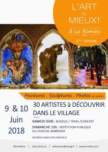 affiche 2018 la Romieu Gers