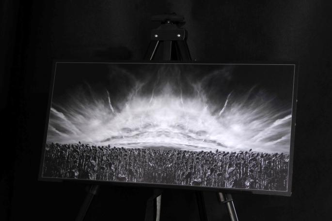 Tournesols (fractal) 30x60cm